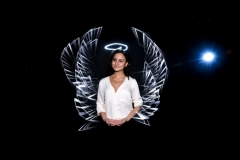 Ange en light painting, animation photo pour la CCI